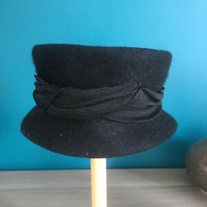 Ancien Chapeau Bibi Laine Années 50 / 60 Collection Costume