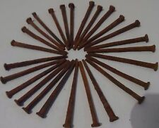 "Antique Square Nails rescued  vintage rusty and rustic 3""  Lot of 30 ***"