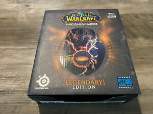 World Of Warcraft MMO Gaming Mouse Legendary Edition Steel Series OPEN BOX LOOK