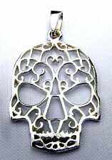 Sterling Silver (925)  Scrolled  Skull   Pendant   !!       Brand. New !!