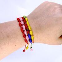 Pulsera de 7 nudos de la suerte para hombre o mujer de hilo ajustable bracelets