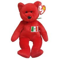 1999 Ty Beanie Baby Osito Mexico PE Pellet Bear Retired Tag Errors
