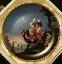 "Precious Moments Bible Story Collector's Plate - ""They Followed the Star� 2859D"