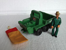 Fisher Price Ranger Jeep / 6 wheeler argo - 1976 - with figure and sleeping bag