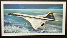 CONCORD   Supersonic Passenger Airliner    Illustrated Card  # VGC