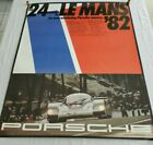 Original Vintage RARE Porsche Race Poster 1982 LeMans 24 Hour