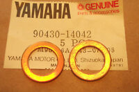 YAMAHA XT500  TT500  SR500  GENUINE ROCKER COVER PLUG GASKETS - # 90430-14042
