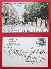 AK GUMBINNEN in Ostpreussen 1905 Blick in die Insterburgerstrasse Post ( 32497