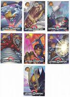 1995 Marvel Fleer X-Men All Chromium Lethal Weapons You Pick Finish Your Set