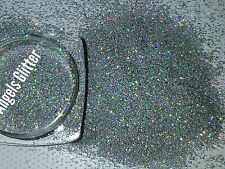 Nail glitter 5g holographic Silver SUPERFINE for Acrylic or gel 2016