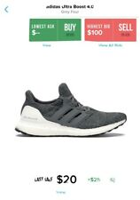 adidas ultra boost 4.0 Grey Four size 14