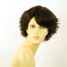 wig for women 100% natural hair chocolate brown ref HELENE 6 PERUK