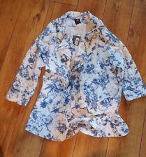 Ladies 'ATMOSPHERE' Blue/White floral blazer. Size 14. NEW.
