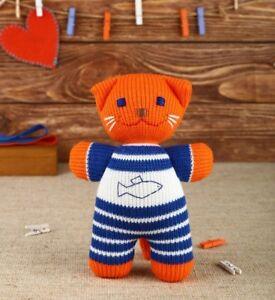 Freia Eco Friendly Handmade Plush Toy Cat Kitten Stuffed Animal