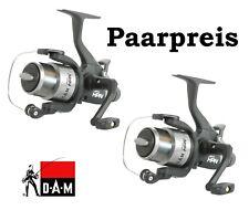 2x Freilaufrolle DAM Quick HPN 50 mit Schnur Karpfen Set Angelrolle Angelset