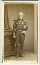CDV militaire circa 1870. Commandant d'État major médaillé. Officier. Militaria.