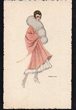 "Ill. Bianchi - ""Donnina"", Pretty Glamour Lady - Scritta - B031"