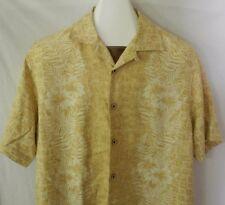 Tommy Bahama Hawaiian Camp Shirt 100% Silk Hibiscus Flower Medium Aloha Friday