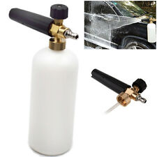 "1L Foam Lance Cannon 1/4""Quick Connect Adapter Pressure Washer Gun Strong Clean"
