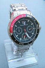 NEW IN BOX Nautica Men's Classic Enamel-Bezel Stainless Steel Watch N21559M $215