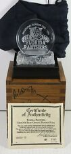 Signed Lead Crystal Florida Panthers NHL Hockey Puck Case COA Numbered 363/2500