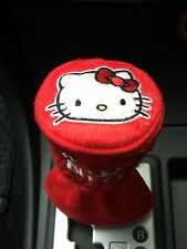 Hello Kitty Car Accessory Manual or Round-Head Shift Knob Gear Stick Cover #Red
