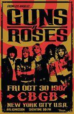 Guns N' Roses 1987 Concert Poster
