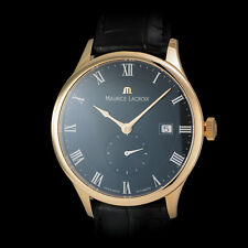 """Maurice Lacroix 18K RG """"Tradition"""" Mens Masterpiece Tradition. Black Dial MP6907"""