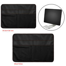 Black Dustproof Cover PU Leather Dust Cover Sleeve Protector for iMac Screen