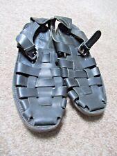 ~~Atelier HESCHUNG France Men's Black Leather Huarache Sandals Shoes Sz 12~
