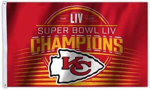 Kansas City Chiefs Super Bowl 54 Champions 3x5 Flag 2019 Superbowl Banner Champs