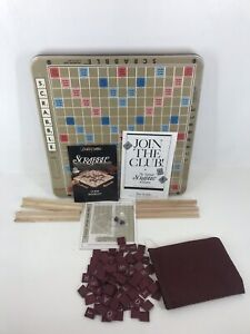 SCRABBLE DELUXE Edition Rotating Turntable 100% COMPLETE 1989 Mahogany Tiles