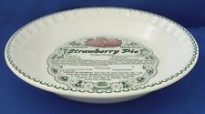 Vintage Microwave Deep Dish Strawberry Pie Royal China Co. Plate Recipe USA 11""
