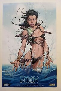 ULTRA RARE Michael Turner FATHOM LBCC 11x17 Art Print! Limited 100 ASPEN COMICS