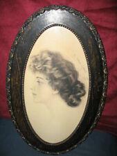 Gorgeous Gibson Girl Original Penci Drawing by Charles Allan Gilbert 1904