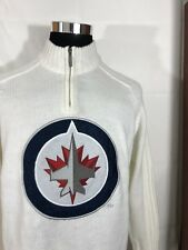 Winnipeg Jets Men's Sweater Navy NHL Size L Large New With Tags M48