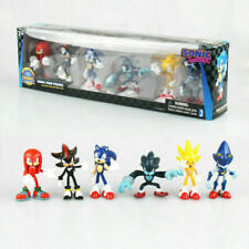 6PCS Sega Sonic The Hedgehog Action Figure Collection PVC Toy Kid Gift With Box
