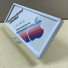 Apple Dealer Display - Rare Original with Apple Computer Colorful Rainbow Logo