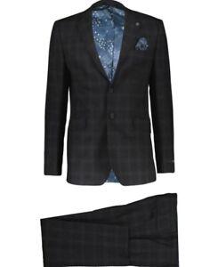 Ted Baker London Endurance men's travel suit size 42R/W36x32  100% Wool w/hanky