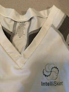 Intelliskin Foundation V Tee Medium White Cool Cue Posture Compression Shirt