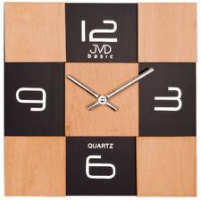 Orologio da parete design in legno con supporto in vetro idea regalo