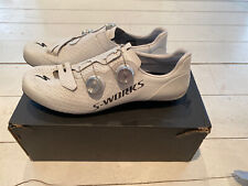 Sworks Specialized 7 carbon road shoes - white - silver boa - 45/10.5UK