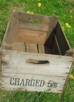 VINTAGE WOODEN ORCHARD APPLE FRUIT CRATE RUSTIC OLD BUSHEL BOX SHABBY CHIC