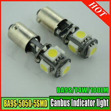 4x 5 SMD ERROR FREE CANBUS LED XENON WHITE SIDE LIGHT BULB 233 T4W BA9S BAYONET