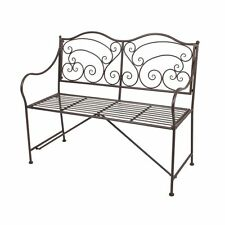 gartenb nke aus metall mit bis zu 3 sitzpl tzen g nstig kaufen ebay. Black Bedroom Furniture Sets. Home Design Ideas
