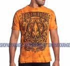 AFFLICTION A Frame A14898 Men`s New Orange T-shirt