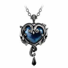 Alchemy Gothic Affaire du Coeur Pendant Necklace - Pewter Crystal Delphic