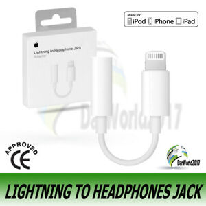 Genuine Apple Lightning to 3.5mm Headphone Jack Adapter A1749 iPhone 7 8 X XR XS