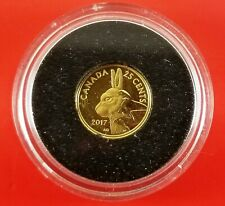 2017 Canada Gold 25 Cents Arctic Hare Predators Vs Prey 0.5 Grams