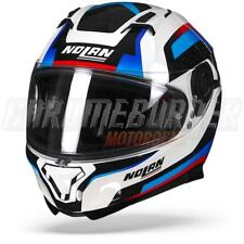 Nolan N87 Arkad N-COM 040 Metal White Blue Red, Full-Face Helmet